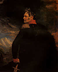 Портрет А. П. Ермолова. Худ. Д. Доу. 1825 г.